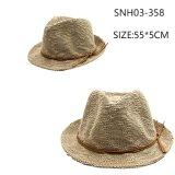 Ladies Brown Knitting Triby Hat Straw Hat High Quality for Summer Women