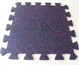 1mx1m Interlocking Rubber Tiles Fitness Equipment Rubber Carpet