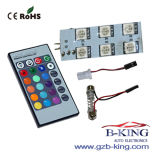 Wireless IR Remote Control RGB Car LED Domelight