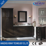 Classic Design Black Solid Wood Bathroom Vanity Cabinet