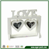 China Antique Heart-Shaped White Craft Wooden Photo Frames