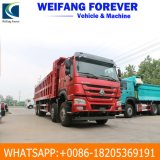 Low Price Used HOWO Dump Truck Tipper 370HP 8X4 with Excellent Condition and Best Price
