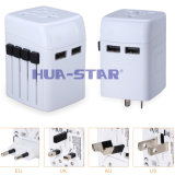 New Multifunction World Travel Adapter with 2 USB Charger (HS-T101DU)