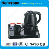 Black Color Welcome Tray Set with Electric Kettle for Hotels