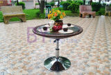 Outdoor Creative Home Open-Air Balcony Cafe Hotel Leisure PE Rattan Table and Chair