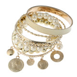Belly Dance Wrist Arm Anklet Bracelets Gold Coins Halloween Costume Party Accessories Pearl jewellery