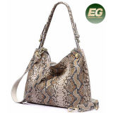 New Goods Women Handbag with Snake Skin Patern Hotsale Collision Ladies Bags at China Factory Price for Wholesale Emg5221