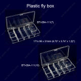 Wholesale Transparent 7 or 10 Compartments Terminal Fishing Tackle Box Fly Fishing Hook Box Fly Box 09A-111