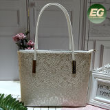 New Design Special PU Leather Ladies Shopping Tote Bag with a Same Small Size Bag Sh363