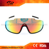Cheap Custom Brands White PC Frame Coating Lens Volleyball Glasses Cycling Sport Sunglasses