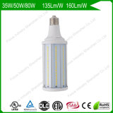 80W 6kv Surge Protection 160lm/W 200W/250W HID Replacement High Power LED Corn Light Bulbs for Street/Roadway/Walkway