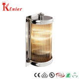 Cheap Hotel Bedside Nickel Color Steel Base Modern Interior Home Glass Crystal Wall Lamp