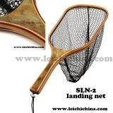 Stronger Burl Wood Handle Fly Fishing Trout Net Sln-2