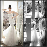 Strapless Formal Dresses Lace Tulle Mermaid Bridal Wedding Gowns X184