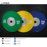 Competition Bumper Plates and Barbell Weight Set, for Olympic Weightlifting, Strength and Conditioning, Cross-Training