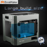 Ecubmaker Metal Plate Type and Digital 3D Printer for Personal Printing Plastic Moulding