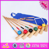 2016 Wholesale Baby Wooden Croquet Balls, Outdoor Kids Wooden Croquet Balls, 6-Player Wooden Croquet Balls W01A168