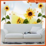 Yellow Sunflower Photo Paper Oil Painting for Living Room