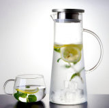 Wholesale Heat Resistant Flower Tea Water Bottle Borosilicate Glass Tea Pot