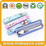 Metal Tin Case Gift Box for Chopsticks and Spoons