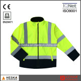 High Visibility Safety Workwear Hi Vis Knitted Softshell Jacket
