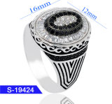 Handmade Silver Fashion Cubic Zirconia Jewelry Islamic Men Rings for Sale
