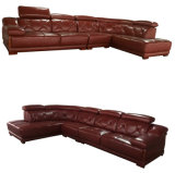 Top Grain Office Furniture Leather Sofa with Corner (A23)