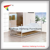 Metal Single Bed with Wood Slats (HF048)