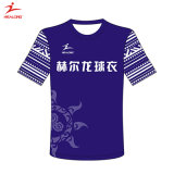 Healong Wholesale Style and Fabric Customized Printing Short Sleeve Polyester T-Shirt