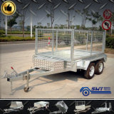Two Axle Box Trailer with Cage (SWT-TT85)
