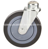 High Quality 5 Inch Shopping Cart Caster with Screw Bolt, USA Style PU Caster Wheel