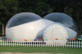 Family Camp Canopy Inflatable Clear Lodge Bubble Tent for Lawn Camping