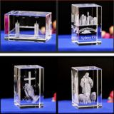 Factory Wholesale Blank Block Glass Crafts Gifts Decoration 3D Laser Engraving Cube K9 Crystal