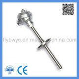 PT100 Assembly Rtd -100-420c Temperature Sensor with Fixed Flange Resistance