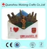 Hot Ssale Custom Brussels Souvenir Resin Fridge Magnet