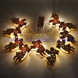 China Supplier LED Wooden Angel Pendant String Light