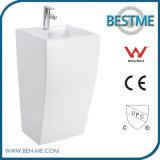 Popular Design Best Price Modern Design Nano Ceramic 1PC Pedestal Basin