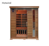 Dry Steam Sauna Room with Carbon Fiber Heaters for Two People