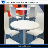Artificial Marble Stone Fast Food Restaurant Furniture Round Dining Table