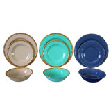 Unbreakable Plastic Dinnerware Set Texture Design Melamine Tableware
