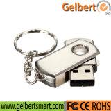 Custom Logo Metal Swivel Key Chain USB 2.0 Flash Drive