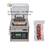 China Plastic Bag Table Type Electric Single Chamber Meat Fish Rice Houshhold Food Vacuum Packager Machine Sealer Sealing Machine Price