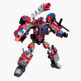 Educational Blazing Mars Robot Transform Car ABS Building Block Kids Toy