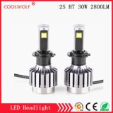 Factory Direct Sale 2s H7 30W 2800lm LED Car LED Headlight Bulbs Headlamp with Competitive Price