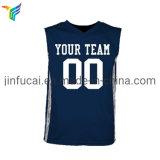 Cheap Basketball Top Shirts 100% Polyester Simple Navy Basketball Uniform Jersey