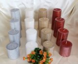 Party Metallic Pillar Candle for Home Decoration or Christmas, Wedding Decoration