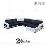 U Shape Living Room Furniture Modern Corner Leather Sofa