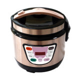 Portable Travel Fast Cooking Noodle Egg Cooker Stainless Steel Mini Electric Rice Cooker with Steamer Layer