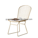 Modern Cheap Iron Frame Industry Metal Cafe Dining Chair