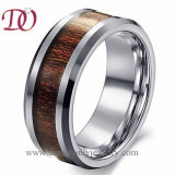 Professional Factory Cheap Wholesale Attractive Style Latest Stainless Steel Tungsten Ring Wooden Inlay